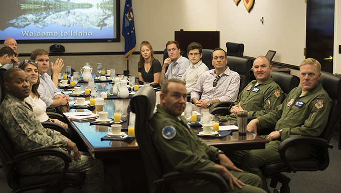 Congressional Advisors visit Mountain Home Air Force Base