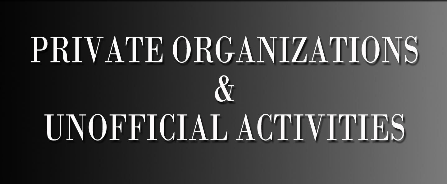 Private Organizations & unofficial activities